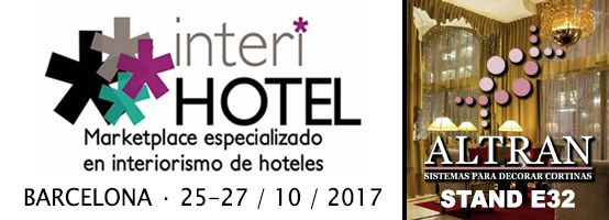 Nous exposons au Salon InteriHOTEL 2017 à Barcelone